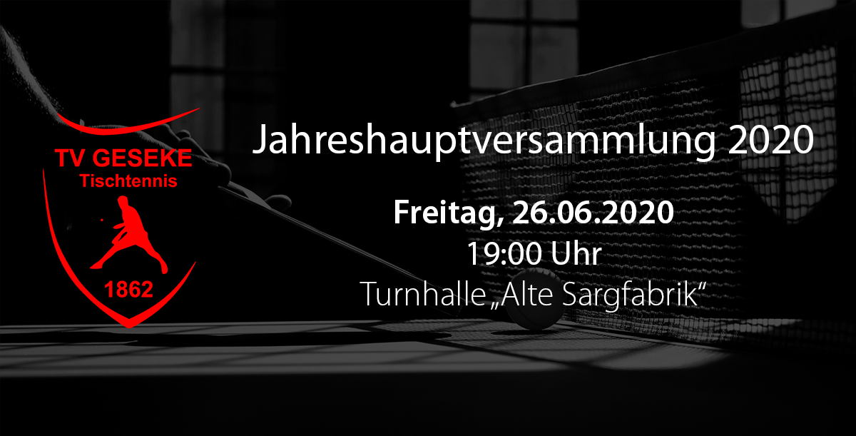 Read more about the article Jahreshauptversammlung 2020